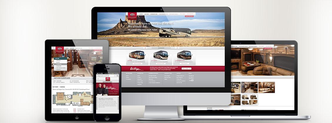 Entegra Coach Website Design and Development