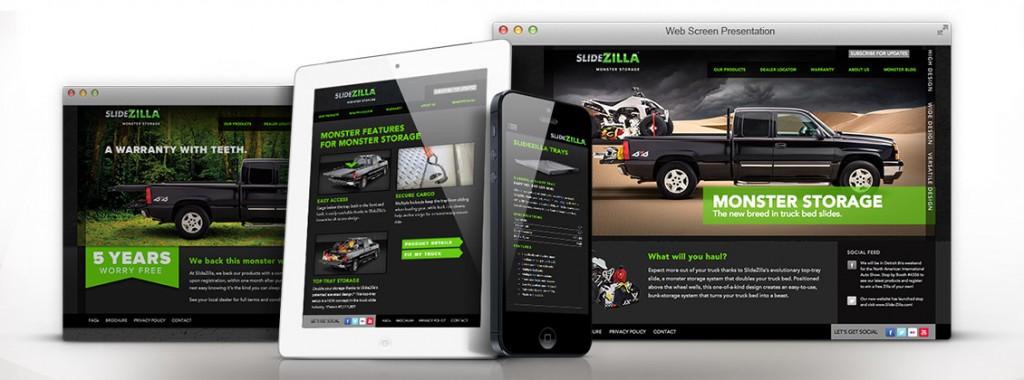 Slidezilla Truck Slide Website Design and Development